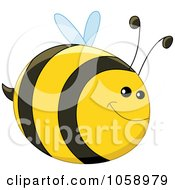 Royalty Free Vector Clip Art Illustration Of A Chubby Happy Bee