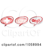 Royalty Free Vector Clip Art Illustration Of A Digital Collage Of Medical Chat Icons