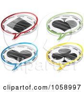Royalty Free Vector Clip Art Illustration Of A Digital Collage Of Poker Chat Balloons
