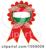 Royalty Free Vector Clip Art Illustration Of A Red Italy Flag Ribbon Label by Andrei Marincas