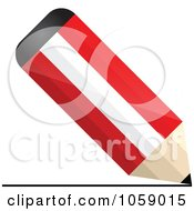Royalty Free Vector Clip Art Illustration Of A 3d Austria Flag Pencil Drawing A Line by Andrei Marincas
