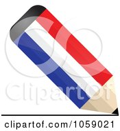Royalty Free Vector Clip Art Illustration Of A 3d Holland Flag Pencil Drawing A Line by Andrei Marincas