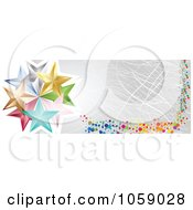 Royalty Free Vector Clip Art Illustration Of A Scratched Silver Banner With Dots And Stars by Andrei Marincas