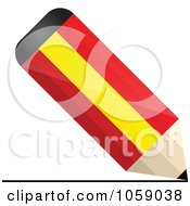 Royalty Free Vector Clip Art Illustration Of A 3d Spain Flag Pencil Drawing A Line by Andrei Marincas