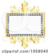 Royalty Free Vector Clip Art Illustration Of A Banner Bordered In Diamonds And Gold Stars