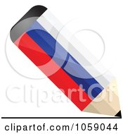 Royalty Free Vector Clip Art Illustration Of A 3d Russia Flag Pencil Drawing A Line by Andrei Marincas