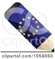 Royalty Free Vector Clip Art Illustration Of A 3d Europe Flag Pencil Drawing A Line by Andrei Marincas