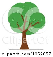 Royalty Free Vector Clip Art Illustration Of A Green Tree Logo 2 by Hit Toon