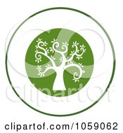 Royalty Free Vector Clip Art Illustration Of A Curly Branched Tree Logo 10 by Hit Toon