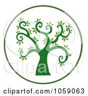 Royalty Free Vector Clip Art Illustration Of A Curly Branched Tree Logo 8 by Hit Toon