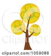 Royalty Free Vector Clip Art Illustration Of A Circle Foliage Tree Logo 2 by Hit Toon