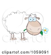 Royalty Free Vector Clip Art Illustration Of A Grazing Sheep