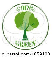 Royalty Free Vector Clip Art Illustration Of A Going Green Logo With A Tree by Hit Toon