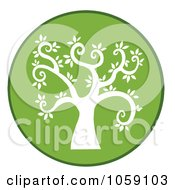 Royalty Free Vector Clip Art Illustration Of A Curly Branched Tree Logo 9 by Hit Toon