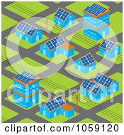 Royalty Free Vector Clip Art Illustration Of A Solar Powered Neighborhood by Any Vector