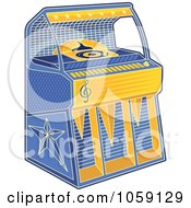 Royalty Free Vector Clip Art Illustration Of A Retro Juke Box by Any Vector