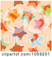 Royalty Free Vector Clip Art Illustration Of A Star Background Pattern by Cherie Reve