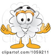 Royalty Free Vector Clip Art Illustration Of A Dust Character