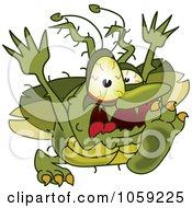 Gross Green Bug Character Running