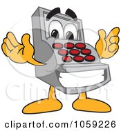 Royalty Free Vector Clip Art Illustration Of A Cash Register Character by Toons4Biz