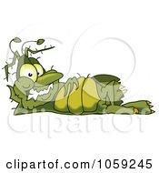 Gross Green Bug Character Relaxing