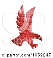 Royalty Free Clip Art Illustration Of A Textured Red Hawk