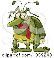 Sick Green Bug Character