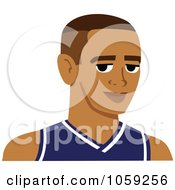 Royalty Free Vector Clip Art Illustration Of A Male Avatar Wearing A Jersey 2 by Monica