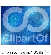 Royalty Free Clip Art Illustration Of A Background Of Blue Water Drops And Lights