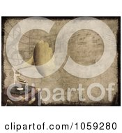 Royalty Free Clip Art Illustration Of A Grungy Gramophone And Music Note Background by KJ Pargeter
