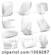 Royalty Free Vector Clip Art Illustration Of A Digital Collage Of Blank 3d Packages
