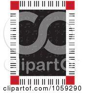 Piano Key Border Around Music Notes On Black