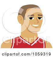 Male Avatar Wearing A Basketball Jersey 1