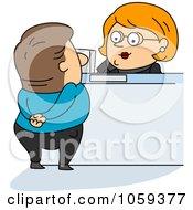Bank Teller Assisting A Customer