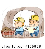 Royalty Free Vector Clip Art Illustration Of Miners Working