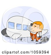 Royalty Free Vector Clip Art Illustration Of A Plane Mechanic by BNP Design Studio