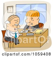 Poster, Art Print Of Cartoon Men Working In An Office