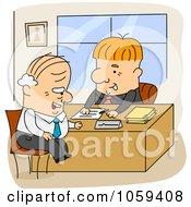 Royalty Free Vector Clip Art Illustration Of Cartoon Men Working In An Office