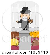 Royalty Free Vector Clip Art Illustration Of A Rabbi Speaking