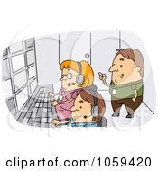 Royalty Free Vector Clip Art Illustration Of A Producer Supervising A Crew