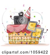 Royalty Free Vector Clip Art Illustration Of A Photography Birthday Cake