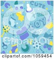 Seamless Blue Baby Boy Background