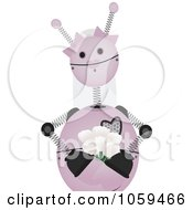 Royalty Free Vector Clip Art Illustration Of A Pink Springy Robot Bride by mheld