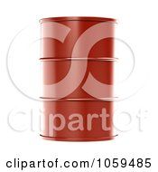 Royalty Free CGI Clip Art Illustration Of A 3d Red Barrel Of Gasoline by ShazamImages