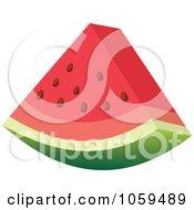 3d Slice Of Watermelon