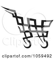 Royalty Free Vector Clip Art Illustration Of A Shopping Cart Icon 2 by Any Vector