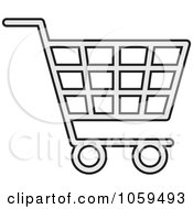 Royalty Free Vector Clip Art Illustration Of A Shopping Cart Icon 1 by Any Vector