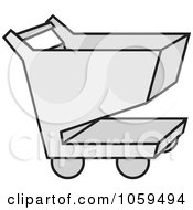 Royalty Free Vector Clip Art Illustration Of A Shopping Cart Icon 3 by Any Vector