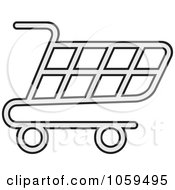 Royalty Free Vector Clip Art Illustration Of A Shopping Cart Icon 4