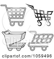 Royalty Free Vector Clip Art Illustration Of A Digital Collage Of Shopping Cart Icons by Any Vector
